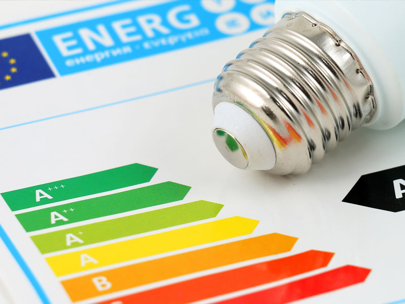 Energy Performance Certificate With Energy Saving Lightbulb
