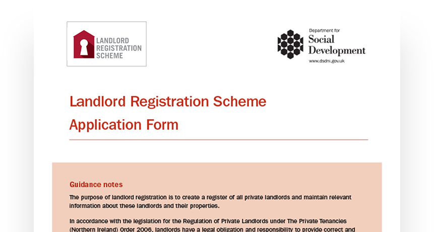 Landlord Registration Scheme Application Form